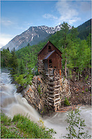 Early summer snow melt leaves the Crystal River running high as it roars past the Crystal Mill. Found along a pretty bumpy 4WD road, the Crystal Mill is one of Colorado's photographic Icons. As far as Colorado pictures go, this is a great place for finding some classics!
