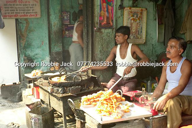 Sweet vendors in the Paharganj district of New Delhi, India.