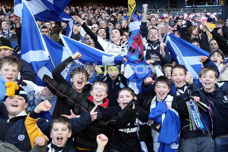 PICTURE BY JEREMY RATA/SWPIX.COM - Rugby Union - RBS Six Nations - Scotland v England - Murrayfield, Edinburgh, Scotland - 08/03/08...Copyright - Simon Wilkinson - 07811267706..Scotland Fans, Supporters.