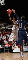 STANFORD, CA - DECEMBER 28: Chiney Ogwumike of Stanford women's basketball drives the lane and puts up a shot in a game against Xavier on December 28, 2010 at Maples Pavilion in Stanford, California.  Stanford topped Xavier, 89-52.