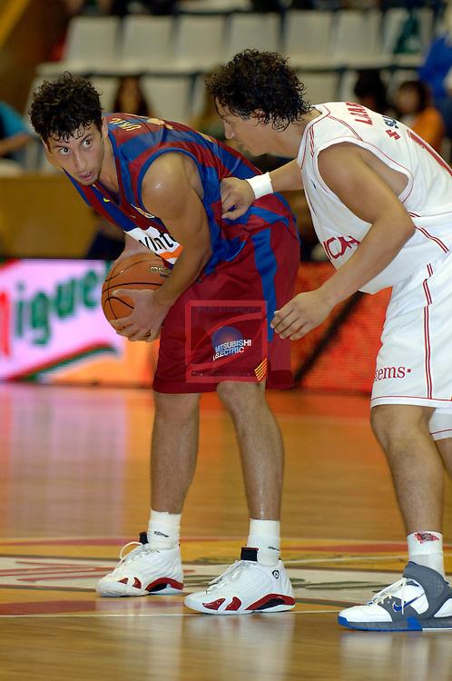Ukic vs Lazaro. Winterthur FC Barcelona vs Ricoh Manresa: 76-75 - Semifinals XXVII Lliga Catalana ACB 2006/2007.