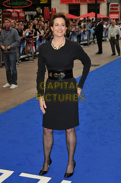 "SIGOURNEY WEAVER.UK Premiere of ""Wall-E"" at the Empire, Leicester Square, London, England. .July 13th, 2008.full length black dress belt shoes .CAP/PL.©Phil Loftus/Capital Pictures."