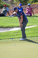 Paul Dunne (IRL) on the 15th during the final round of the DP World Tour Championship, Jumeirah Golf Estates, Dubai, United Arab Emirates. 19/11/2017<br /> Picture: Golffile | Fran Caffrey<br /> <br /> <br /> All photo usage must carry mandatory copyright credit (© Golffile | Fran Caffrey)