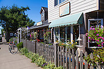 """Manzanita, Oregon, located on Neahkahnie Beach, is a small beach town located in Tillamook County on the Northern Oregon coast.  Manzanita means """"little apple"""" in Spanish. Pictured here is Salt and Paper, a small shop on Laneda Street."""