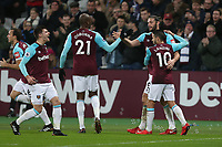 West Ham United's Andy Carroll celebrates scoring his side's first goal <br /> <br /> Photographer Rob Newell/CameraSport<br /> <br /> The Premier League - West Ham United v West Bromwich Albion - Tuesday 2nd January 2018 - London Stadium - London<br /> <br /> World Copyright &copy; 2018 CameraSport. All rights reserved. 43 Linden Ave. Countesthorpe. Leicester. England. LE8 5PG - Tel: +44 (0) 116 277 4147 - admin@camerasport.com - www.camerasport.com