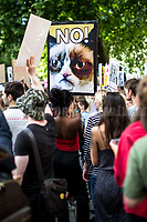 London, 09/06/2017. Today, hundreds of people held a demonstration outside Downing Street to protest against the election of Theresa May who will lead the next British Government supposedly in coalition with the Democratic Unionist Party (DUP - http://bit.ly/2s93eHf), the largest unionist political party in Northern Ireland led by Arlene Foster. <br />