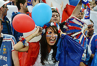 FUSSBALL  EUROPAMEISTERSCHAFT 2012   VORRUNDE Ukraine - Frankreich               15.06.2012 Fan der franzoesischen Nationalmannschaft