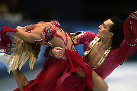 November 19, 2005; Paris, France; Figure skating stars ELENA GRUSHINA and RUSIAN GONCHAROV of Russia skate to gold in ice dancing at Trophee Eric Bompard, ISU Paris Grand Prix competition.  They are favorites in ice dancing leading up to Torino 2006 Olympics.<br />