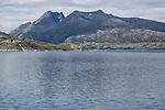 Rocky coastal landscape Sandnessjoen, Nordland, Norway