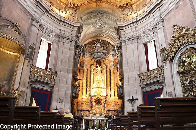 Interior of Clerigos Church by Nicolau Nasoni, Porto - Oporto, Douro Litoral, Portugal
