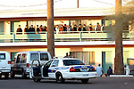 Coyote Drop House at a local Downtown Phoenix Motel were being rounded up by the phoenix PD..Photo by AJ Alexander