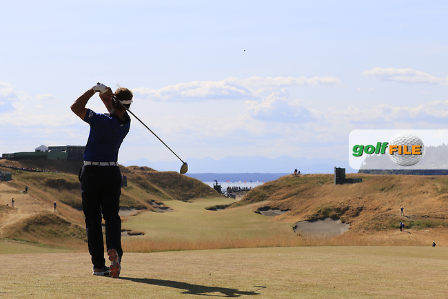 Joost LUITEN (NED) tees off the 10th tee during Saturday's Round 3 of the 2015 U.S. Open 115th National Championship held at Chambers Bay, Seattle, Washington, USA. 6/21/2015.<br /> Picture: Golffile | Eoin Clarke<br /> <br /> <br /> <br /> <br /> All photo usage must carry mandatory copyright credit (&copy; Golffile | Eoin Clarke)