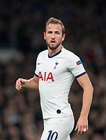 Harry Kane of Spurs during the UEFA Champions League group match between Tottenham Hotspur and Bayern Munich at Wembley Stadium, London, England on 1 October 2019. Photo by Andy Rowland.