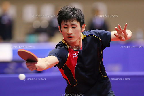 Jin Ueda (JPN), JUNE 19, 2013 - Table Tennis : The Japan Open 2013, Men's Singles Qualifications at Yokohama Cultural Gymnasium in Kanagawa, Japan. (Photo by AFLO SPORT)