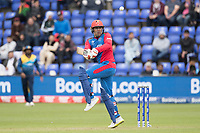 Mohammad Nabi (Afghanistan) gets a bit tight playing a pull shot during Afghanistan vs Sri Lanka, ICC World Cup Cricket at Sophia Gardens Cardiff on 4th June 2019