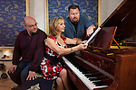 PICTURE BY SHAUN FLANNERY/SWPIX.COM..25th April 2012..Save On Ilkla Moor Baht' At Campaign..Britain's most popular soprano Lesley Garrett records at Sheffield's Steel Works Studios..Music producer's Elliott Kennedy and James Jayawardena...