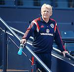Gordon Strachan at Hampden for Scotland training