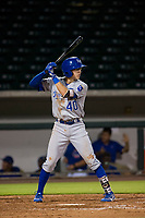 AZL Royals shortstop Max Bartlett (40) at bat against the AZL Cubs on July 19, 2017 at Sloan Park in Mesa, Arizona. AZL Cubs defeated the AZL Royals 5-4. (Zachary Lucy/Four Seam Images)