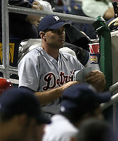 March 29, 2004:  Coach Kirk Gibson of the Detroit Tigers organization during Spring Training at Bright House Networks Field in Clearwater, FL.  Photo copyright Mike Janes/Four Seam Images