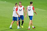 Jordi Alba, David Villa and Marc Bartra during Spain training session at Santiago Bernabeu Stadium in Madrid, Spain September 01, 2017. (ALTERPHOTOS/Borja B.Hojas)