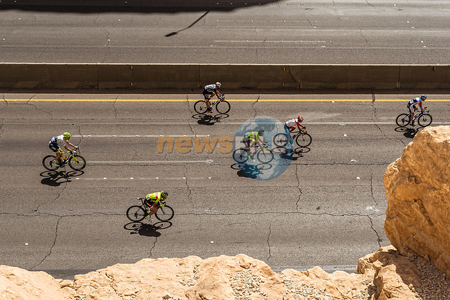 The peloton during Stage 1 of the Saudi Tour 2020 running 173km from Saudi Arabian Olympic Committee to Jaww, Saudi Arabia. 4th February 2020. <br /> Picture: ASO/Kåre Dehlie Thorstad | Cyclefile<br /> All photos usage must carry mandatory copyright credit (© Cyclefile | ASO/Kåre Dehlie Thorstad)