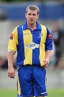 Romford goalscorer Richard Oxby - Romford vs Beaconsfield SYCOB - FA Cup Preliminary Round Football at Mill Field, Aveley FC - 29/08/10 - MANDATORY CREDIT: Gavin Ellis/TGSPHOTO - SELF-BILLING APPLIES WHERE APPROPRIATE. NO UNPAID USE. TEL: 0845 094 6026