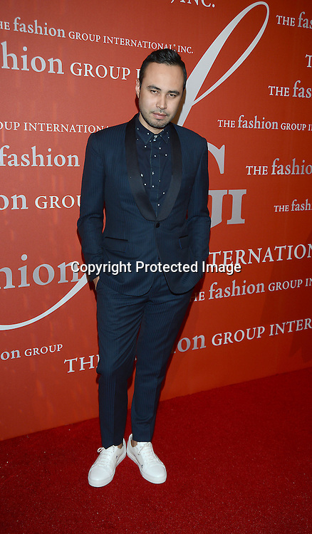 Carlos Campos attends the Fashion Group International's Night of Stars Gala on October 22, 2013 at Cipriani Wall Street in New York City.