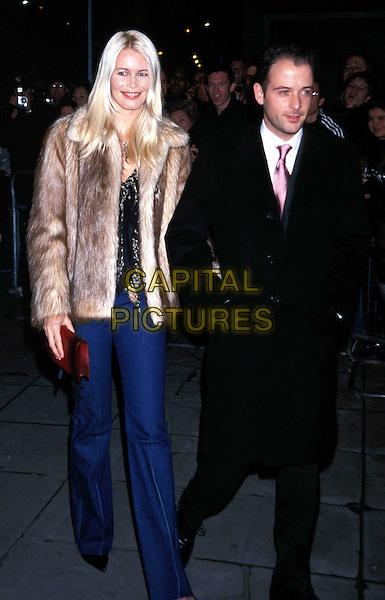 CLAUDIA SCHIFFER..Ref:11323..fur coat, german supermodel, full length, full-length..www.capitalpictures.com..sales@capitalpictures.com..©Capital Pictures..