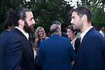 Players Ricky Rubio (l) and Jose Manuel Calderon during the first edition of Spanish Basketball Awards. July 25, 2019. (ALTERPHOTOS/Francis Gonzalez)