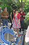 October 15th 2012 <br /> <br /> Zooey Deschanel filming the tv show New Girl at the L.A Zoo wearing a red dress<br /> <br /> <br /> <br /> AbilityFilms@yahoo.com<br /> 805 427 3519.<br /> www.AbilityFilms.com