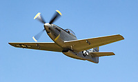 One of a kind P-51H Mustang 44-64314 in flight during the 2017 Grass Valley Airfest