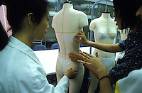 Professional fitting designers at the factory of the Diana brand of lingerie by the Jealosy Underwear manufacturer in Nanhai, China..29-SEP-02