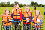 Kensa Barry, Darragh Dennehy, Pierse Moynihan and Ciara Murphy at the Owencree Angling club learning how to fish day in Boolteens on Sunday