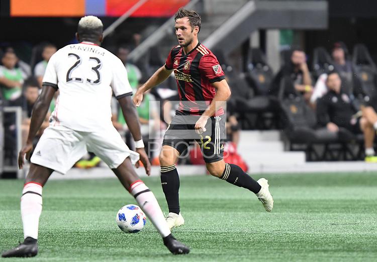 Atlanta, Georgia - Saturday, August 4, 2018: Atlanta United drew with Toronto FC, 2-2, in front of a crowd of 45,191 at Mercedes-Benz Stadium.