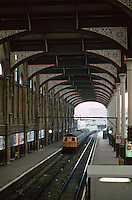 London:  Liverpool St. Station 1874-75; extended 1891-94.  One of the last of the London stations; great Eastern Terminus.   Photo '90.