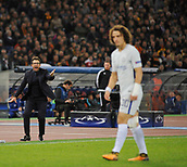 31st October 2017, Stadio Olimpico, Rome, Italy; UEFA Champions League, Roma versus Chelsea; coach A.S.Roma Eusebio Di Francesco shouts instructions from the touchline