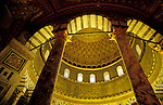 Israel. Jerusalem Old City, interior of the Dome of the Rock&#xA;<br />
