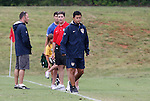 27 June 2008: United States Under-17 Men's National Team head coach Wilmer Cabrera (COL). The United States 2009 Under-17 Men's National Team lost to the Bridge FC U16s 1-3 at McPherson Stadium at Bryan Soccer Park in Brown's Summit, NC as part of the U.S. Soccer Federation Development Academy Summer Showcase which is part of the 2007-2008 regular season.