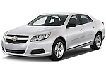 Front three quarter view of a .2013 Chevrolet Malibu 1LS Sedan