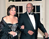 United States Trade Representative Ron Kirk and his wife, Matrice Ellis-Kirk, arrive for the State Dinner in honor of President Hu Jintao of China at the White House In Washington, D.C. on Wednesday, January 19, 2011. .Credit: Ron Sachs / CNP