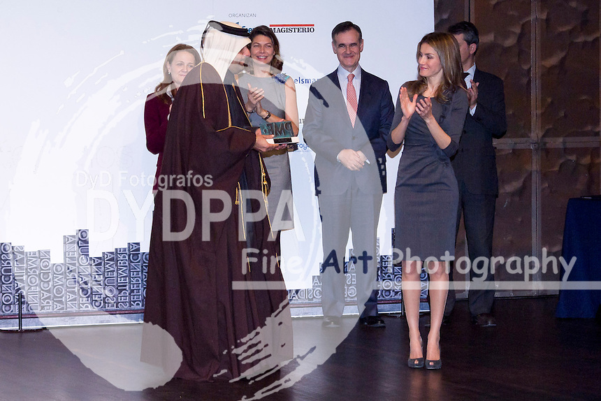 29.11.2012. CaixaForum.  Madrid Spain.  The Princess of Asturias, Letizia Ortiz, assists the delivery of the 4th Teaching Awards. In the picture: Princess Letizia. (C) Ivan L. Naughty / DyD Fotografos//