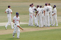 Sir Alastair Cook of Essex leaves the field having been caught out during Essex CCC vs Surrey CCC, Bob Willis Trophy Cricket at The Cloudfm County Ground on 8th August 2020