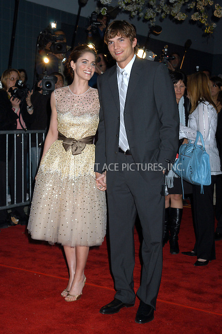 WWW.ACEPIXS.COM . . . . . ....NEW YORK, APRIL 18, 2005....Amanda Peet and Ashton Kutcher at the premiere of 'A Lot Like Love' at the Clearview Chelsea West. ....Please byline: KRISTIN CALLAHAN - ACE PICTURES.. . . . . . ..Ace Pictures, Inc:  ..Craig Ashby (212) 243-8787..e-mail: picturedesk@acepixs.com..web: http://www.acepixs.com