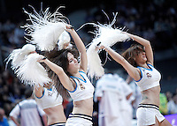 Real Madrid's cheerleaders during Euroleague 2012/2013 match.January 11,2013. (ALTERPHOTOS/Acero) /NortePhoto