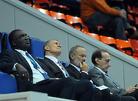 Ihf president Hasán Mustafa in the match Belarus Against South Korea during the ihf world championship 2013 in Zaragoza