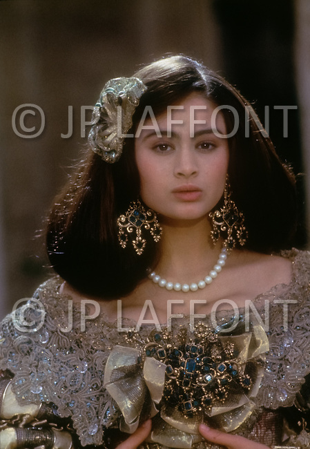 El Kantaoui, Tunisia, May, 1985. British actress Charlotte Lewis on the set of the film The Pirates, written and directed by French-Polish Roman Polanski.