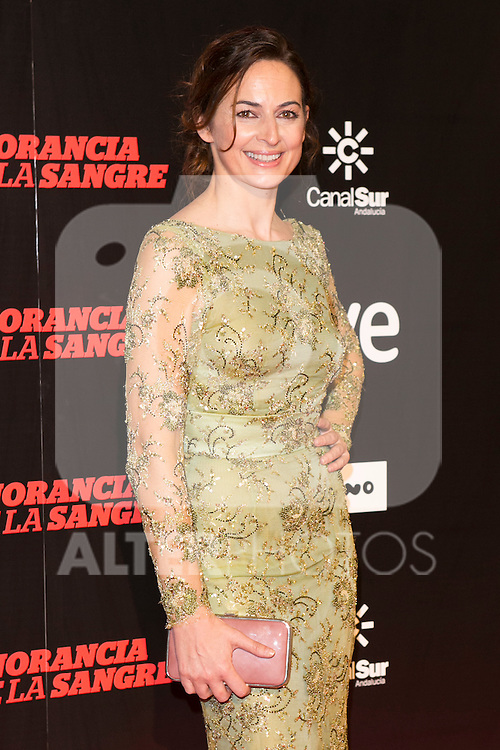 "Cuca Escribano attends ""La Ignorancia de la Sangre"" Premiere at Capitol Cinema in Madrid, Spain. November 13, 2014. (ALTERPHOTOS/Carlos Dafonte)"