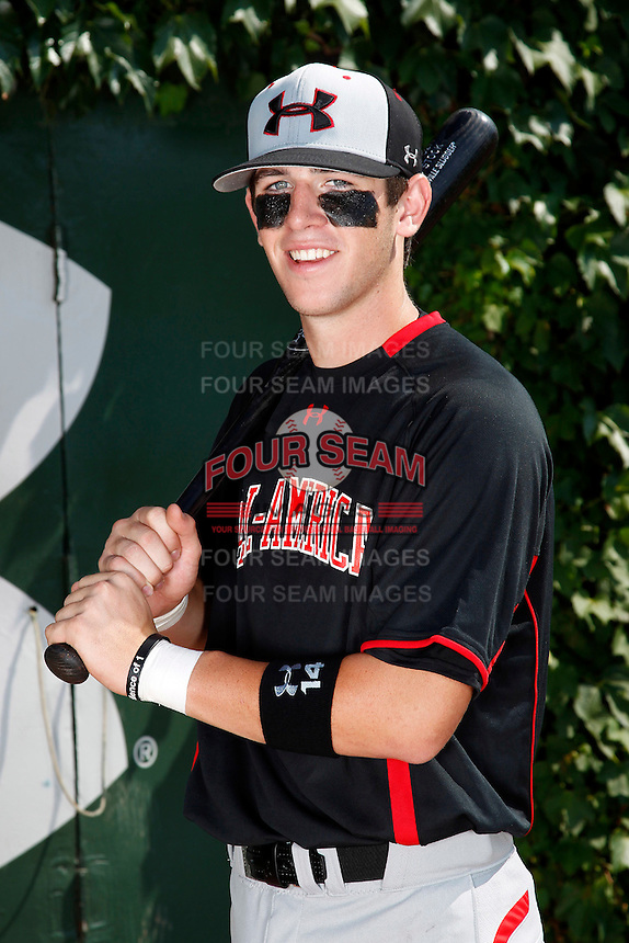 Second baseman Mikey White #14 poses for a photo before the Under Armour All-American Game at Wrigley Field on August 13, 2011 in Chicago, Illinois.  (Mike Janes/Four Seam Images)
