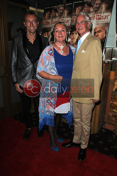 Prince Mario-Max Schaumburg-Lippe, H.H. Dr. Princess Antonia zu Schaumburg-Lippe, H.H.Prince Waldemar of Schaumburg-Lippe<br /> at the &quot;Father Rupert Mayer&quot; Premiere, Crest Theater, Westwood, CA 05-28-15<br /> David Edwards/Dailyceleb.com 818-249-4998