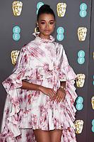 Ella Balinska<br /> arriving for the BAFTA Film Awards 2020 at the Royal Albert Hall, London.<br /> <br /> ©Ash Knotek  D3554 02/02/2020